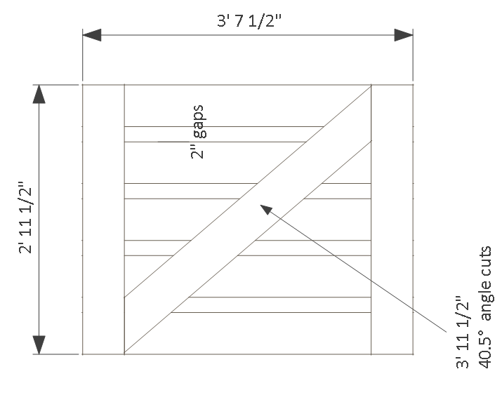 10x14 goat shelter plans with storage - gate.
