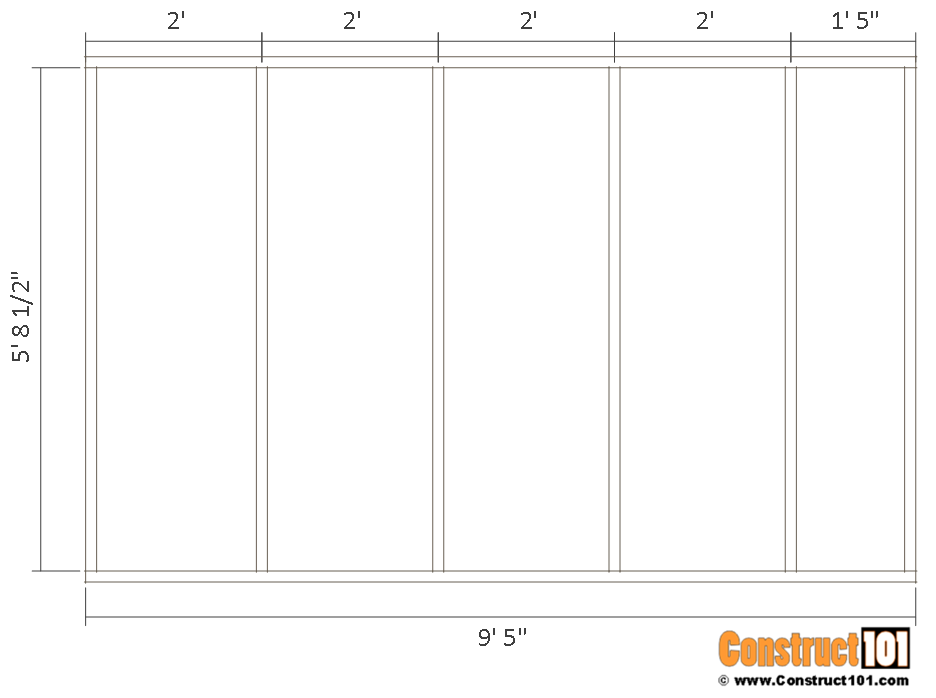 10x14 goat shelter plans with storage - inside wall frame.