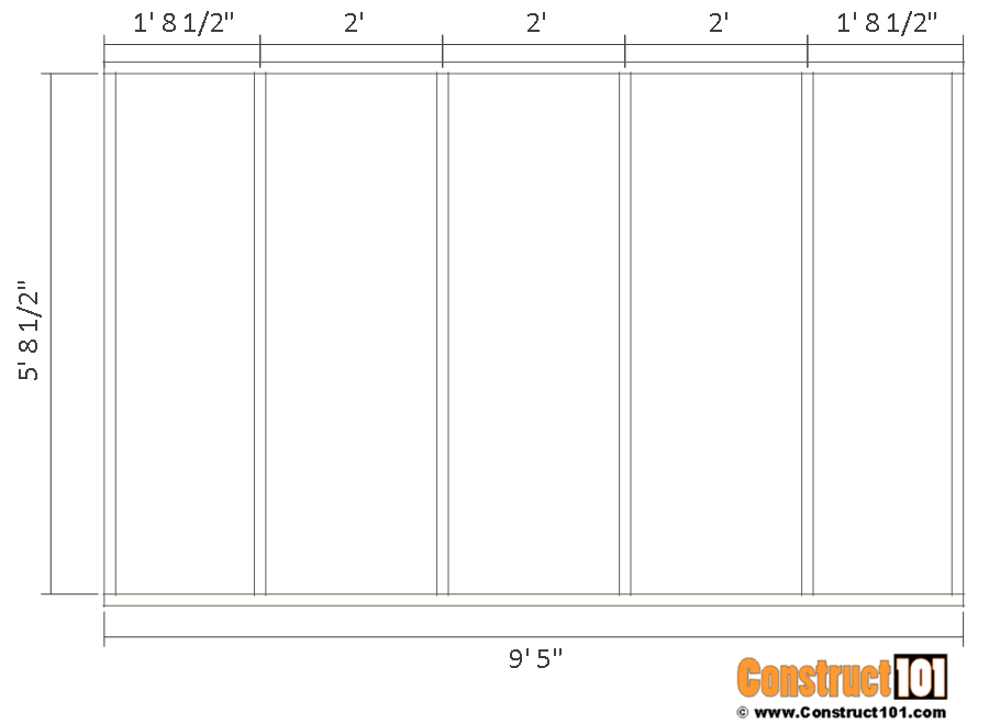 10x14 goat shelter plans with storage - side wall frame.