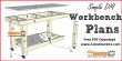 Simple workbench plans - free PDF download at Construct101.