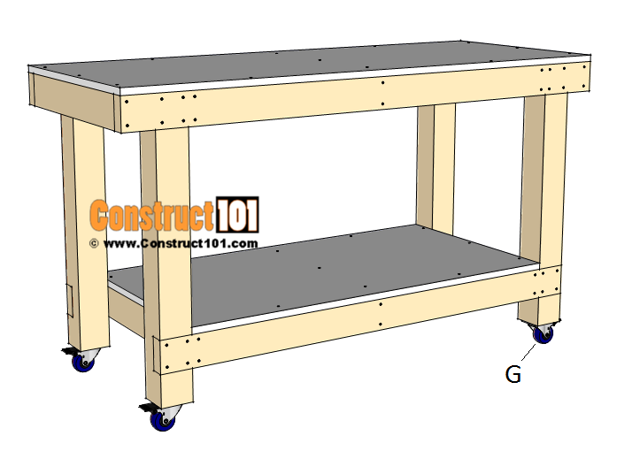 Simple workbench plans - step 5
