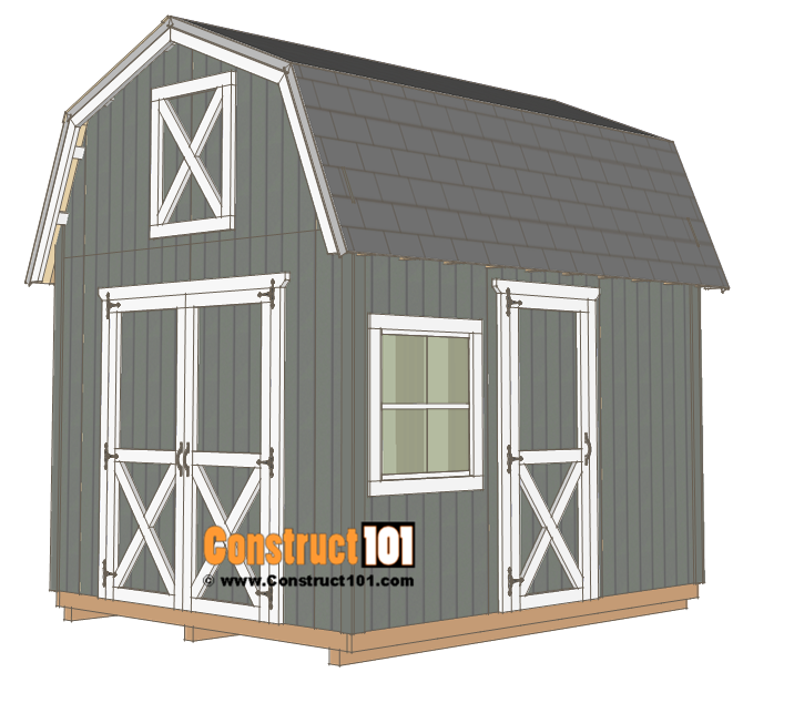 10x12 Barn Shed Plans Construct101