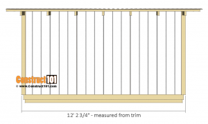 10x12 lean to shed plans - back view.