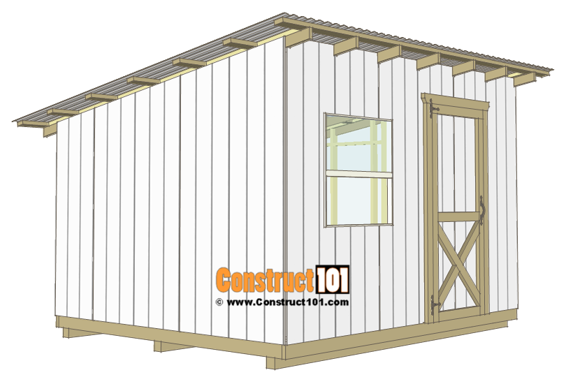 10x12 lean to shed plans - door.
