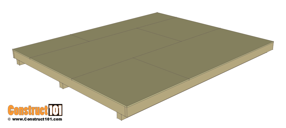 10x12 lean to shed plans - floor deck.