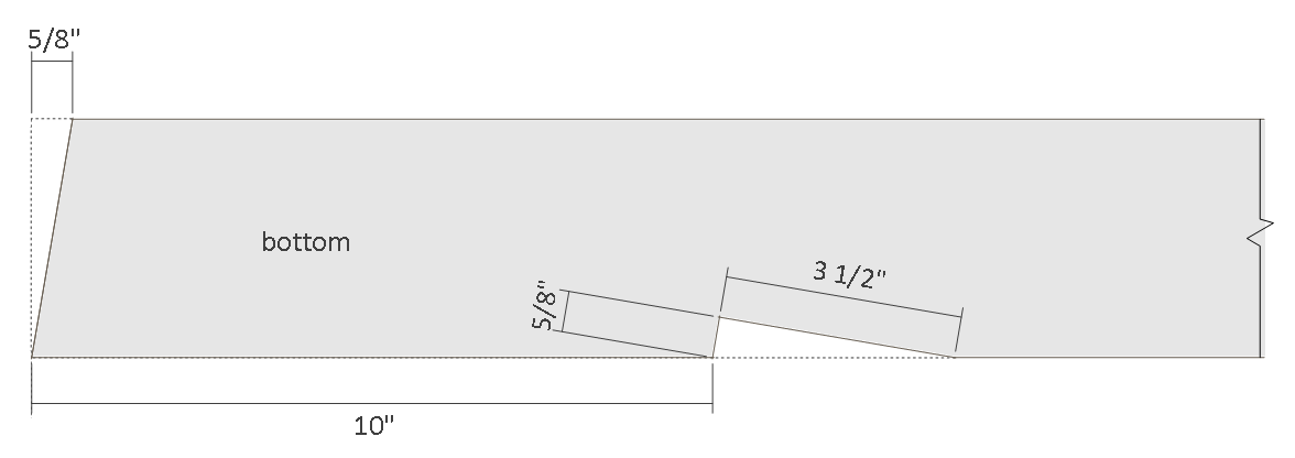 10x12 lean to shed plans - rafter bottom end details.