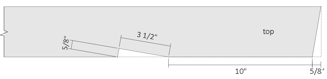 10x12 lean to shed plans - rafter top end details.