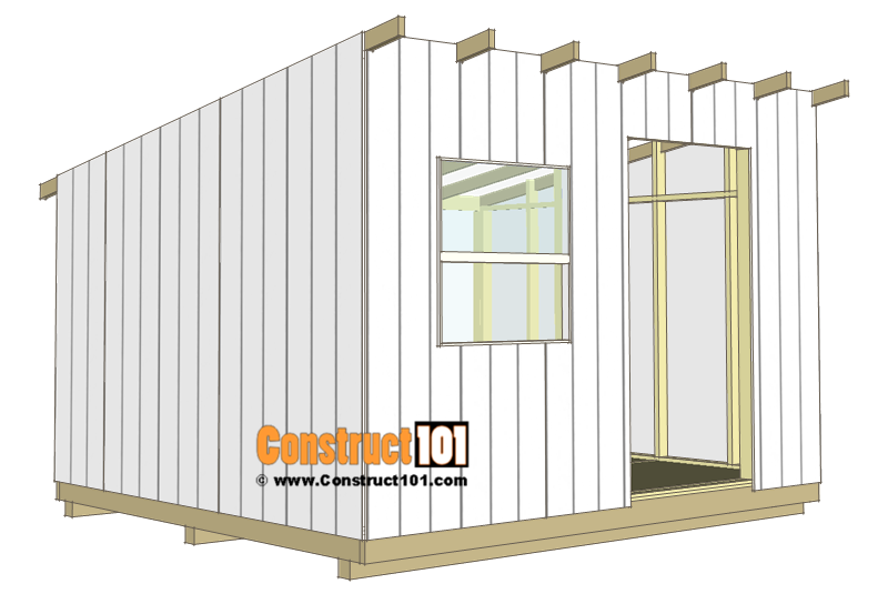 10x12 lean to shed plans - t1-11 siding.