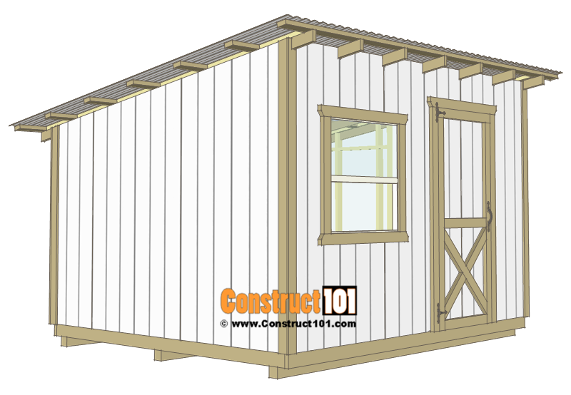 10x12 lean to shed plans - 1x4 trim.