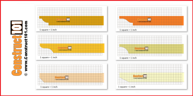 Pergola end rafter tail designs - free PDF at Construct101.
