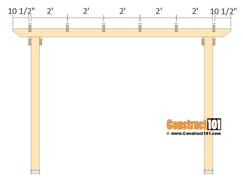 10x10 pergola plans - rafters.