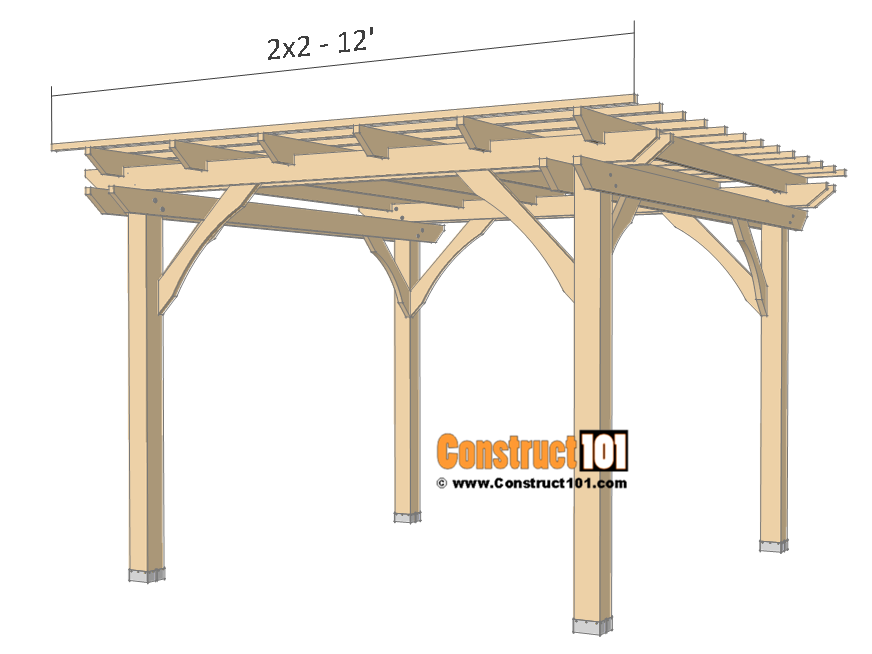 10x10 Pergola Plans | Free PDF Download - Construct101