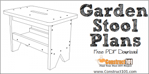 Garden stool plans - free PDF download at Construct101