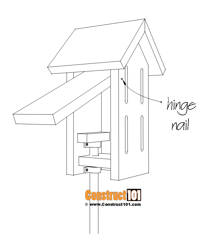 Simple butterfly house plans - pivot nail for door.
