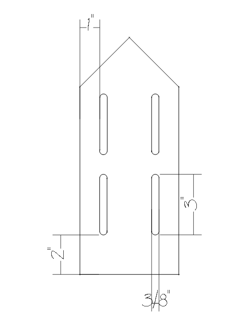 Simple butterfly house plans - front wall slots.