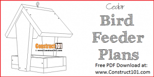 Cedar bird feeder plans - free PDF Download at Construct101.