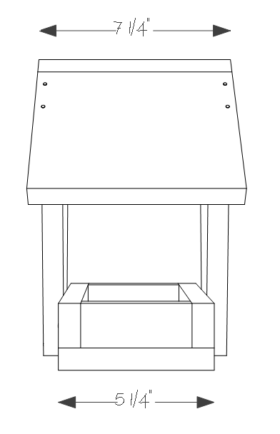 Cedar bird feeder plans - side view.