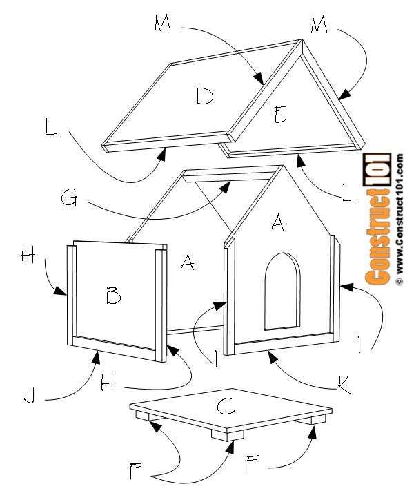 Dog House Plans 2 ft. x 2 ft. - Construct101 on giant dog house plans, very large dog house plans, cool dog house plans, custom dog house plans, 2 dog house plans, saltbox dog house plans, unique dog house plans, big dog house plans, xxl dog house plans, printable dog house plans, roof dog house plans, extra large dog house plans, mini dog house plans, duplex dog house plans, large breed dog house plans, diy dog house plans, winter dog house plans, easy dog house plans, xl dog house plans, dog house with porch plans,