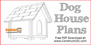 Dog house plans 2 ft. x 2 ft. - free PDF download at Construct101.