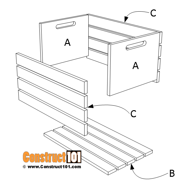 Wood crate plans - material list,