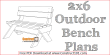 2x6 outdoor bench plans - free PDF download.