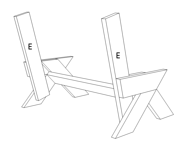 2x6 outdoor bench - step 3.