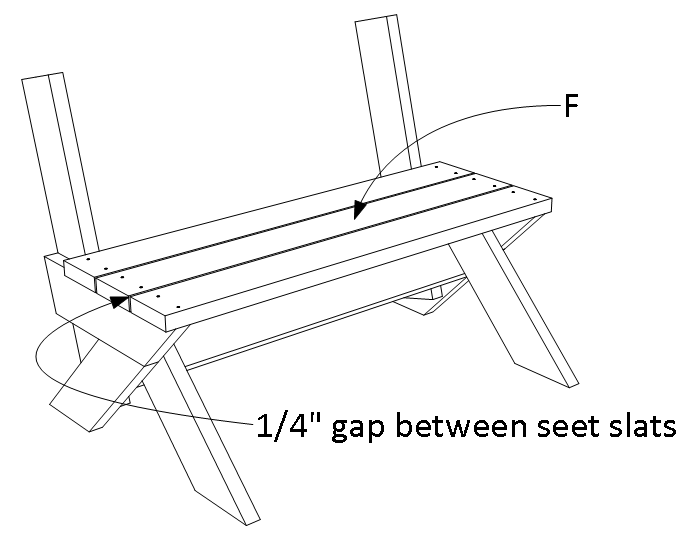 2x6 outdoor bench - step 4.