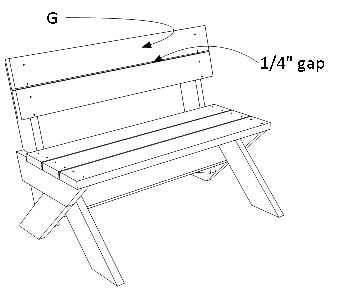 2x6 outdoor bench - step 5.