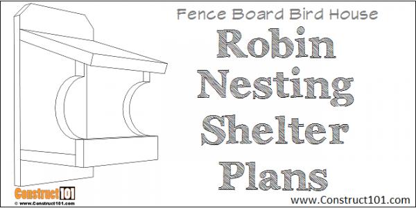 Robin nesting shelter plans - free PDF downlad - diy project.