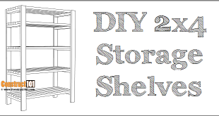 DIY storage shelves - free plans - PDF download.