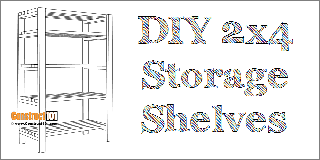 DIY storage shelves - free plans - PDF download.