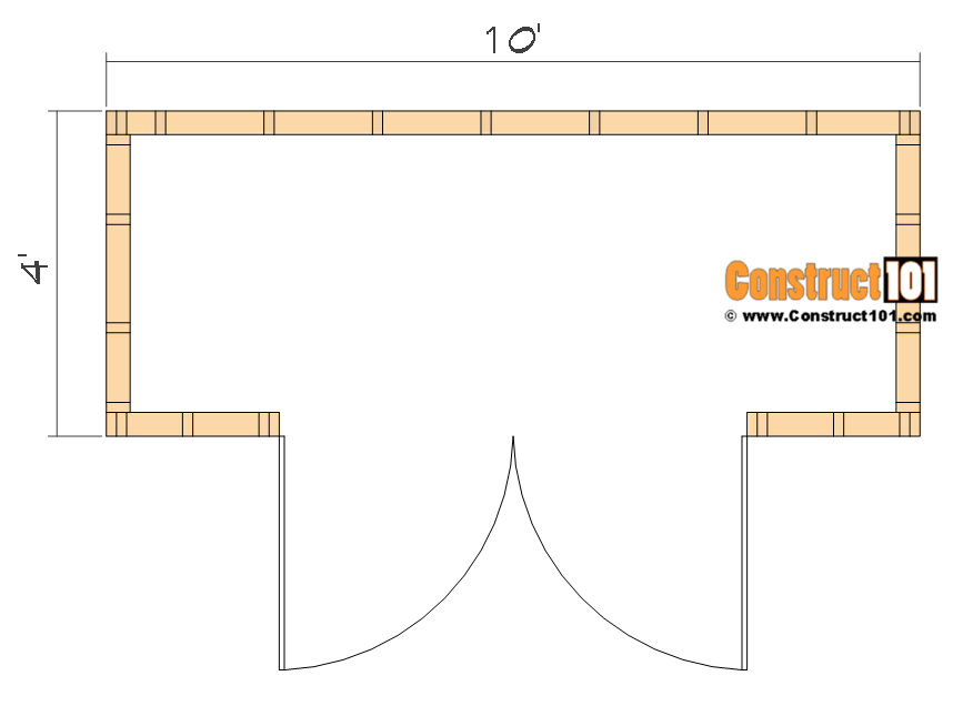 4x10 Lean To Shed Plans Free Pdf Material List