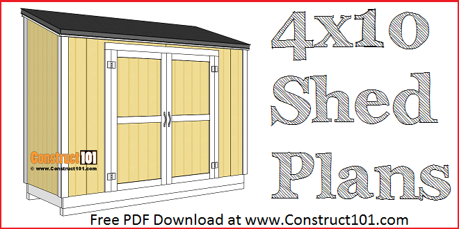 Free Shed Plans With Drawings Material List Free Pdf Download