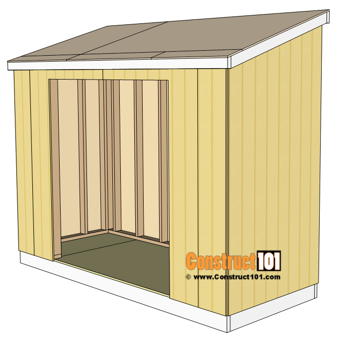 Lean to shed, roof deck, 1/2 inch plywood.