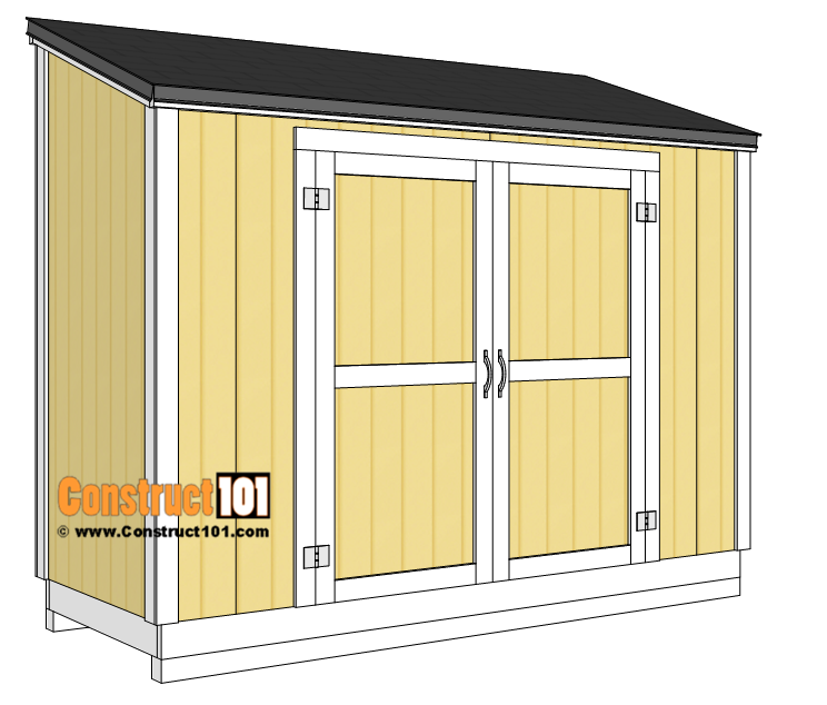 Lean to shed plans. Shingles, drip edge, roofing felt, installation.