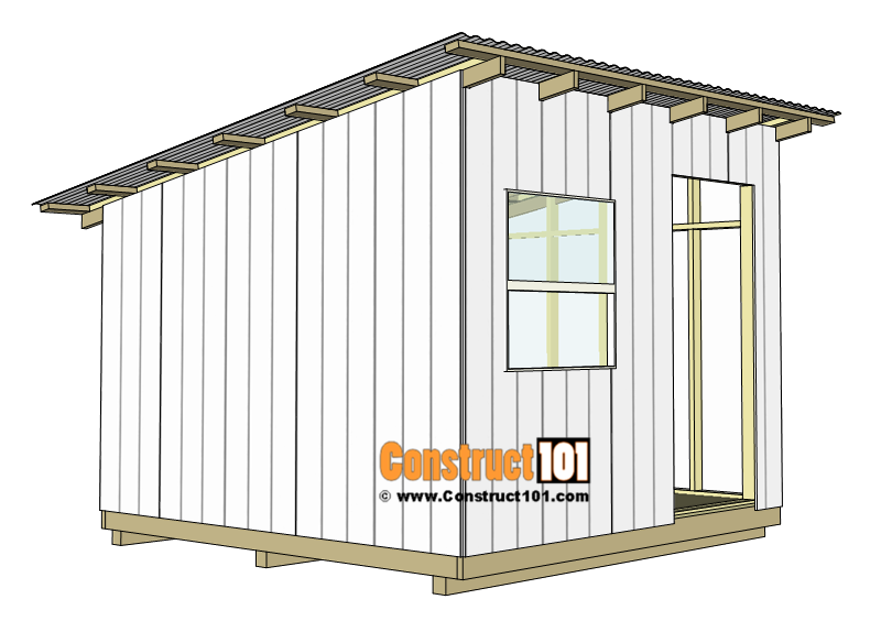 10x10 lean to shed plans - corrugated roofing panels.
