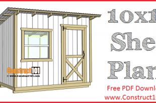 10x10 Lean To Shed Plans | Free PDF Download