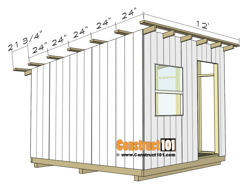 10x10 lean to shed plans - purlins.
