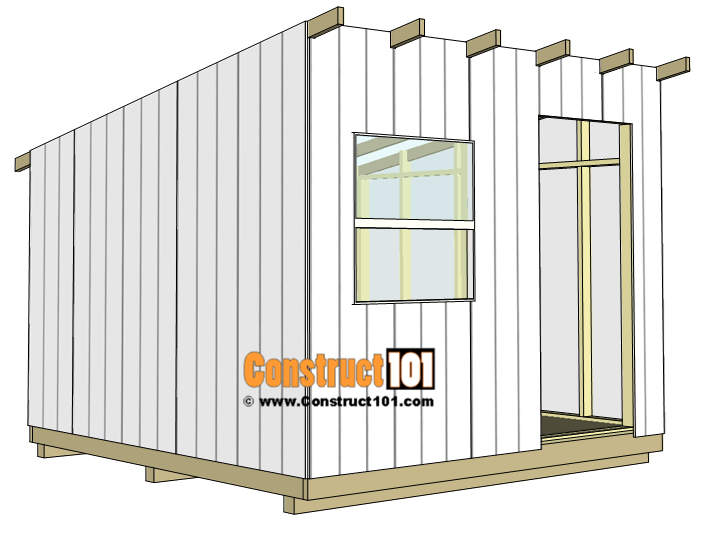 10x10 lean to shed plans - t1-11 exterior siding.
