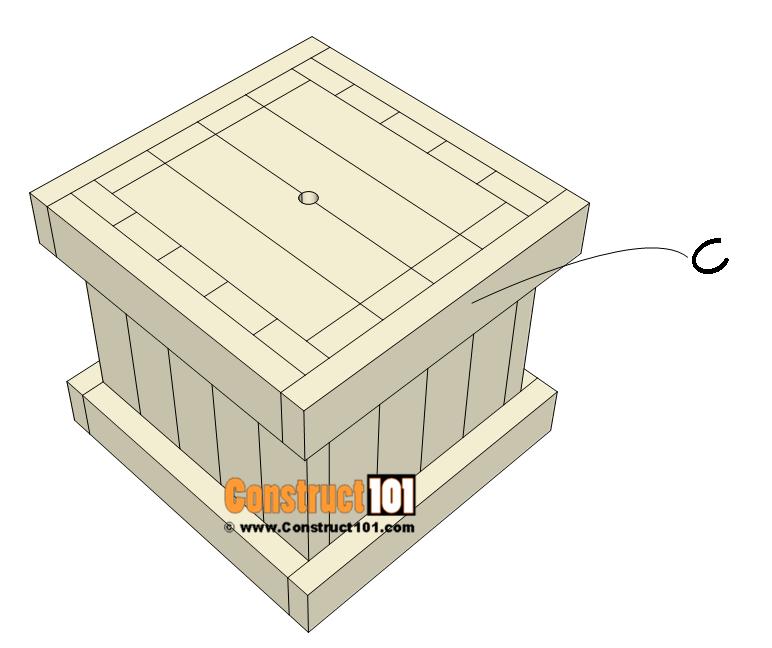 2x4 planter box plans - attach C.