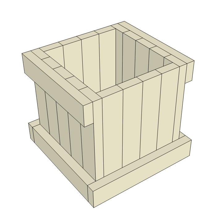 2x4 planter box plans - attach sides to front and back.
