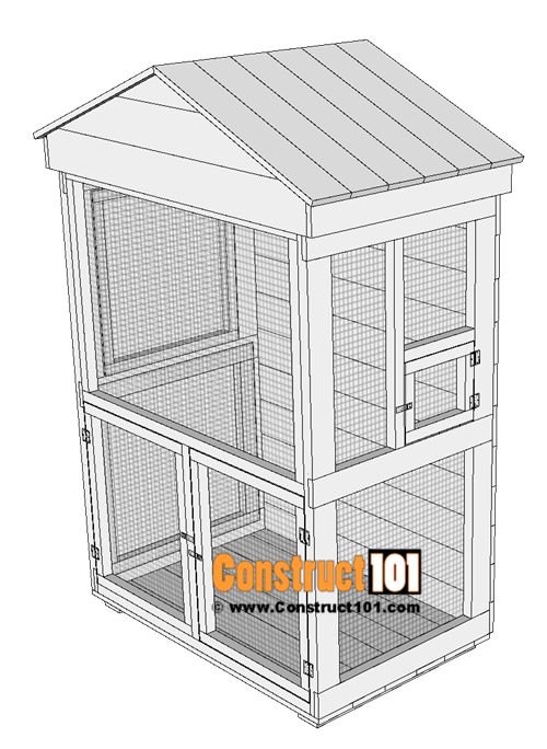 Outdoor aviary bird cage plans, 1x6 roof top boards.