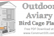 Outdoor aviary bird cage plans, free PDF download.