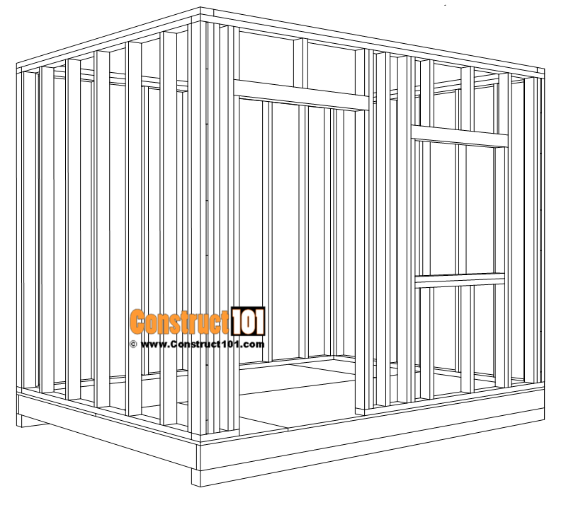 DIY 8x10 gable shed - wall framing details.