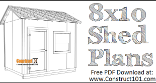 DIY 8x10 gable shed - free PDF download.