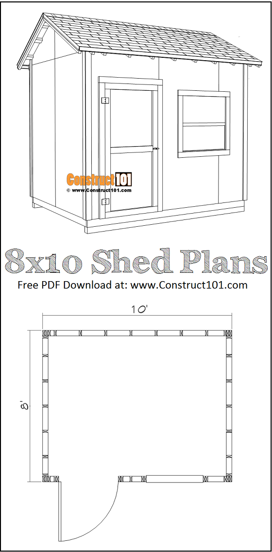 DIY 8x10 Gable Shed - Free Plans - PDF Download - Material List