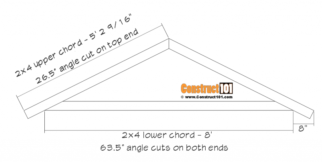 DIY 8x10 gable shed - rafter details.