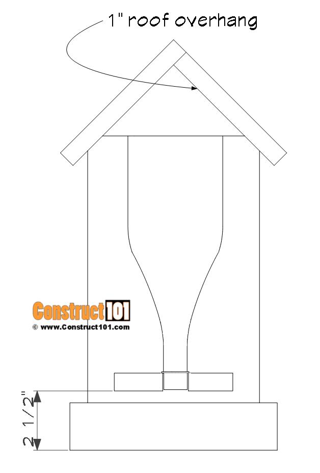 Bottle bird feeder plans - project details.