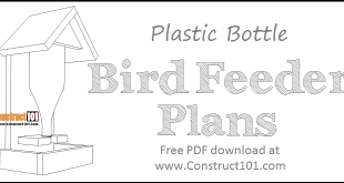 Bottle bird feeder plans - free PDF download.