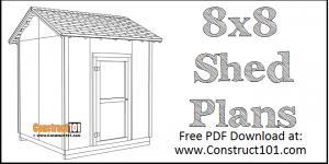 DIY 8x8 Gable Shed   Building Plans   Free PDF Download